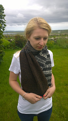 NEW 4 panel extra wide scarf flake pattern