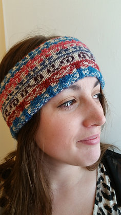 NEW head band in traditional flower fairisle