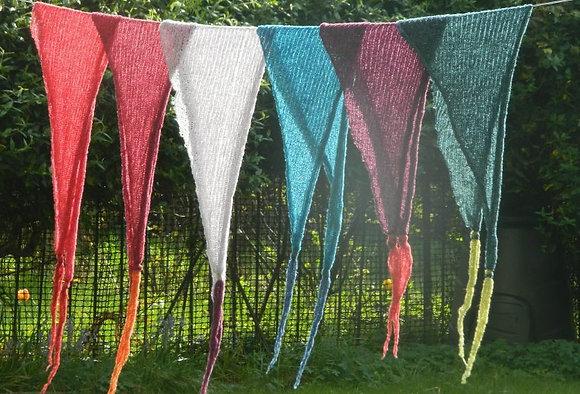 bright merino bandanna scarves