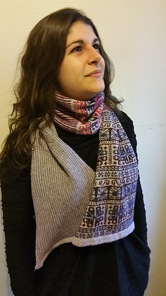 New extra wide scarf traditional flower pattern