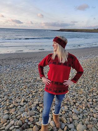 tudor red north star jumper
