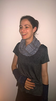 storm pattern snood 2 colour