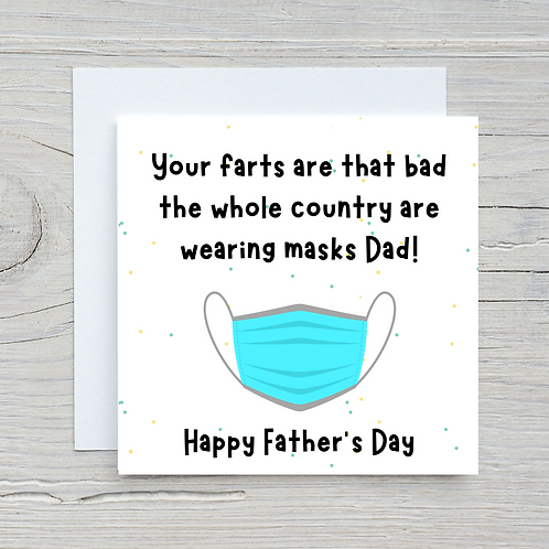 Father's Day Card- Mask