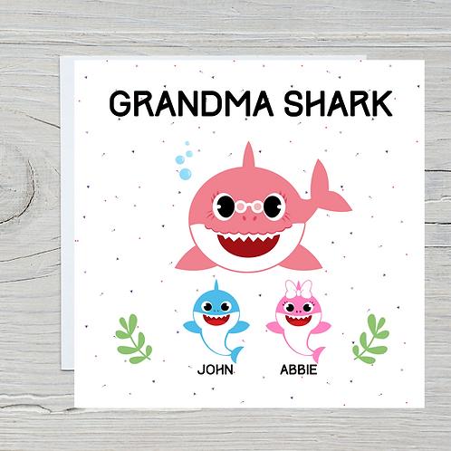 Mother's Day Card - Grandma Shark