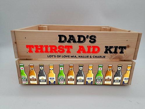 Personalised Thirst aid kit Crate