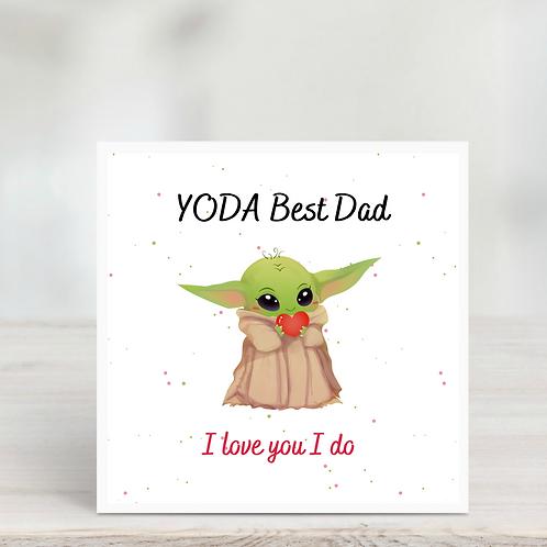 Father's Day Card- Yoda