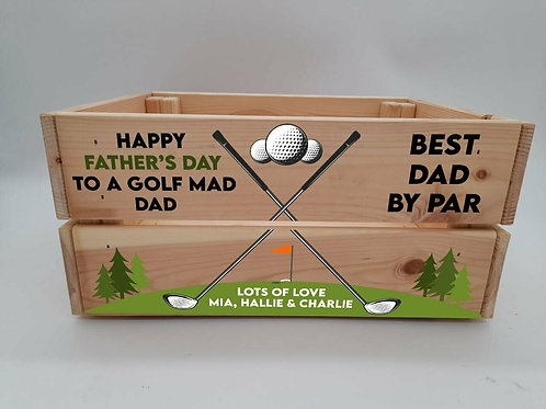 Personalised Best Dad By Par Golf Crate