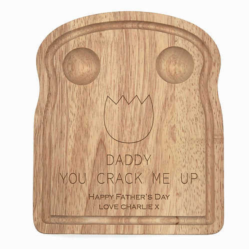Personalised Daddy You Crack Me Up Egg Board
