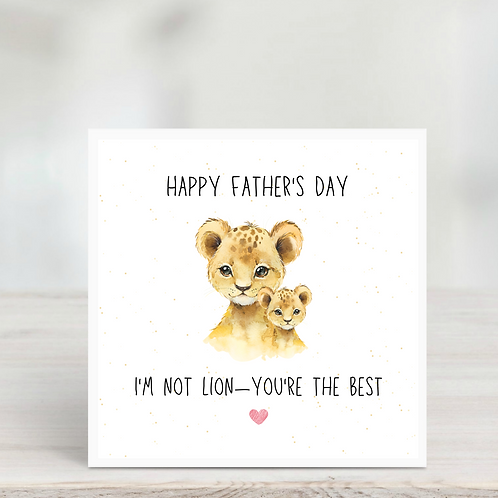 Father's Day Card- Lion