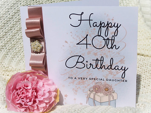 Handmade Daughter Birthday Card