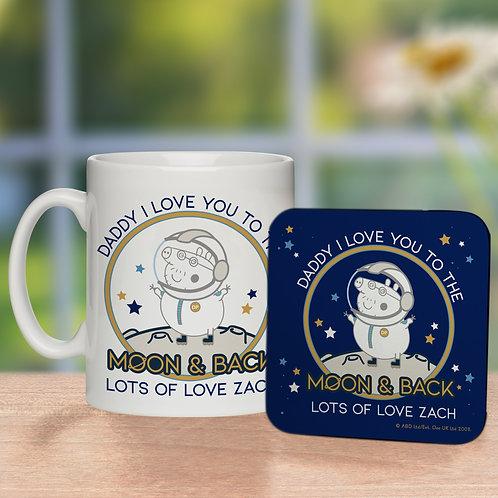 Peppa Pig™ Daddy Moon & Back Mug & Coaster