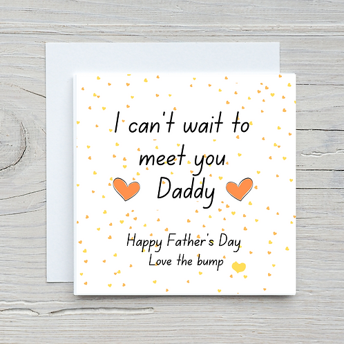 Father's Day Card-From the bump