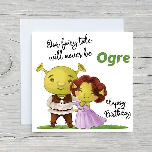 Shrek Birthday Card