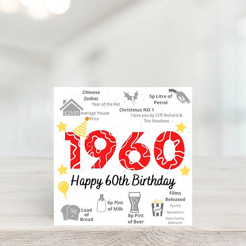 Year They Were Born Birthday Card