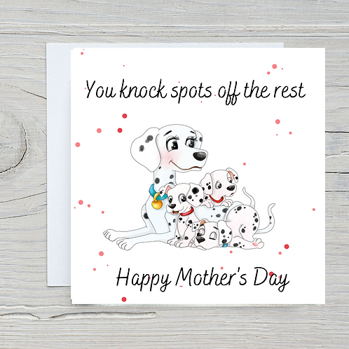Mother's Day Card -Dalmations