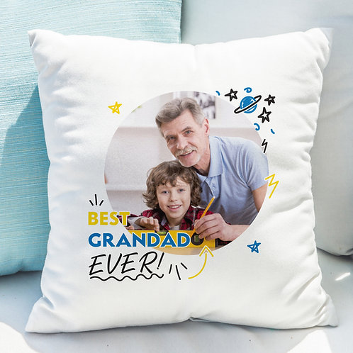 Best Grandad Ever Photo Upload Cushion