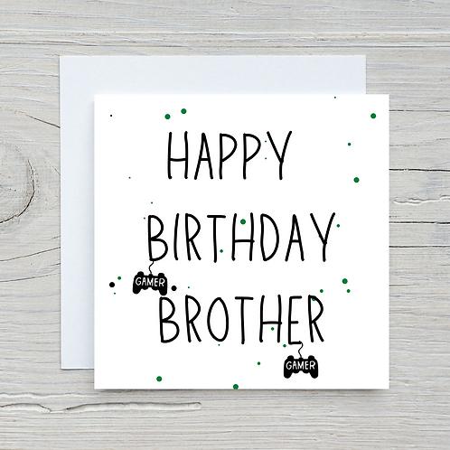Gamer Brother Birthday Card