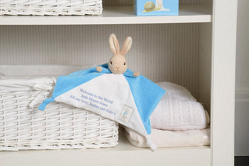 Personalised Peter Rabbit Comfort Blanket