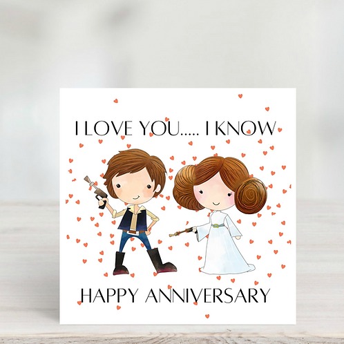 Star Wars Inspired Anniversary Card