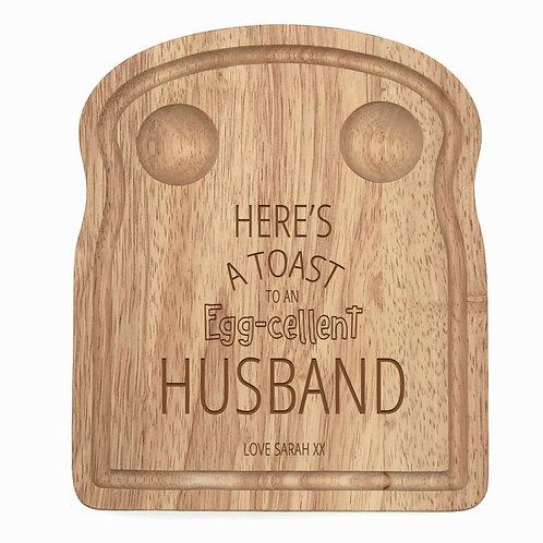 Personalised Husband Egg Board
