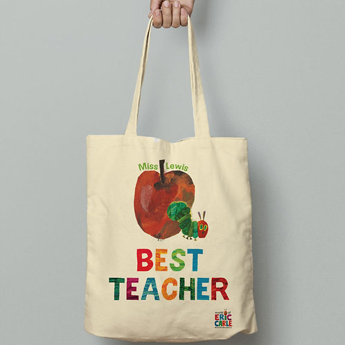 Very Hungry Caterpillar Best Teacher Tote Bag