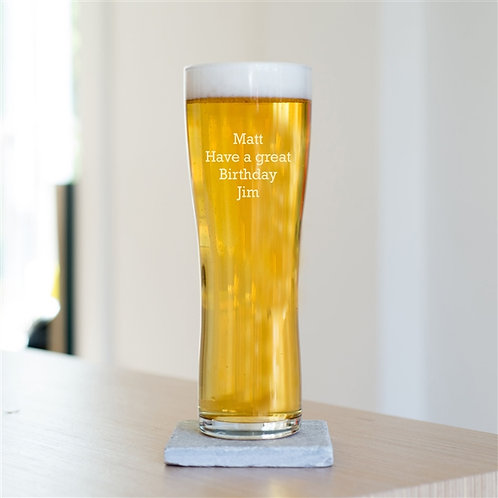 Special Message Pint Beer Glass