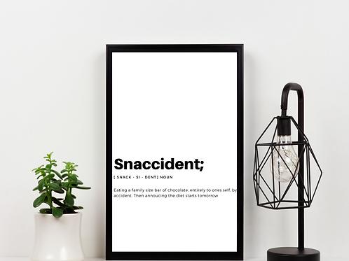 Snaccident Print