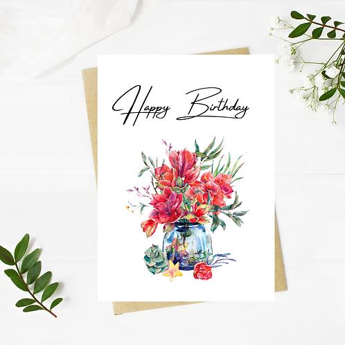 Flowers Birthday Card