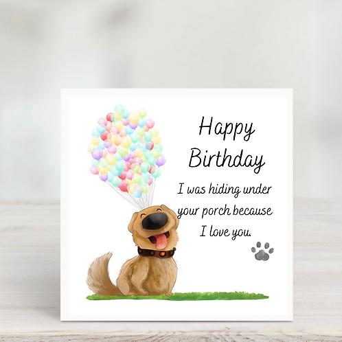 Up Dog Birthday Card
