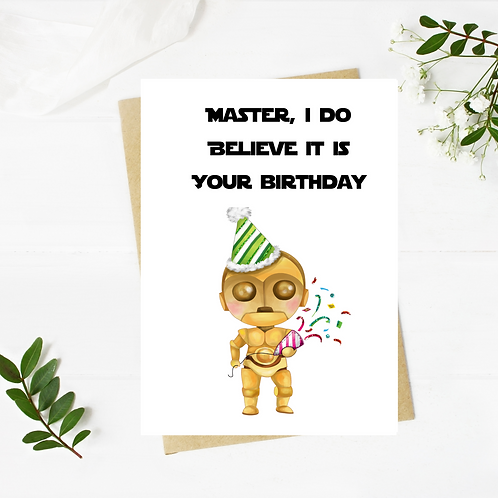 Star Wars Inspired Birthday Card