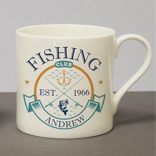 Fishing Club Chunky Bone China Mug