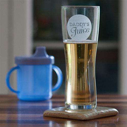 Daddy's Juice Pint Beer Glass