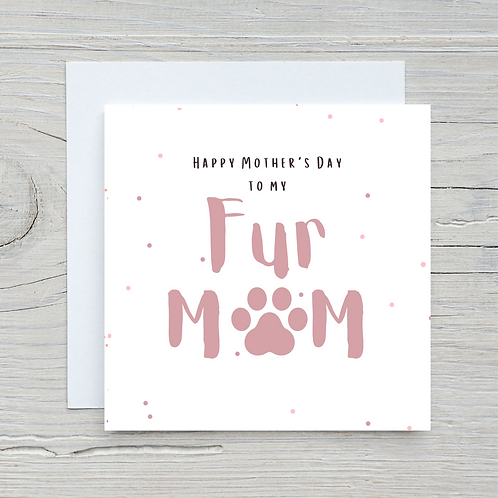 Mother's Day Card -Off the dog