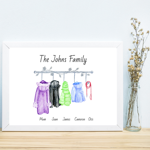 Family Coat Picture-Personalised