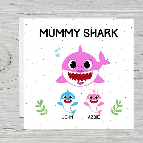 Mother's Day Card - Mummy Shark