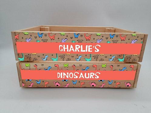 Personalised Dinosaur Crate
