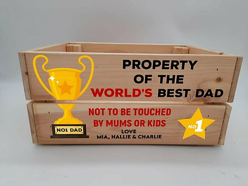 Personalised Property of the worlds best Crate