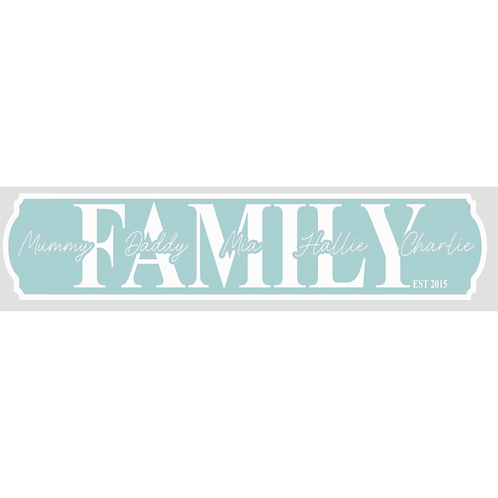 Family Name Sign - Personalised