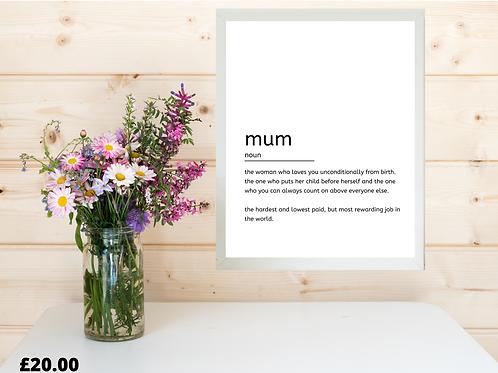 Mum Print