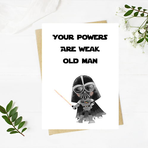 Darth Vader Inspired Birthday Card