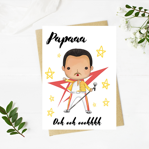 Queen Inspired Birthday Or Father's Day Card