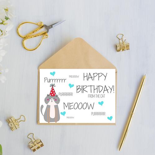 Birthday Card Off The Cat