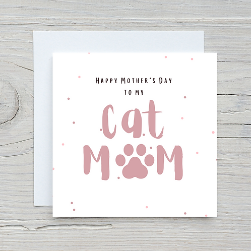 Mother's Day Card -Off the cat