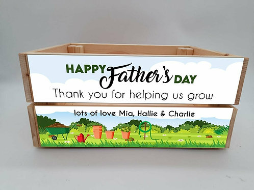 Personalised Thank You For Helping Us Grow Crate