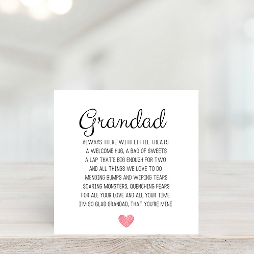 Grandad Birthday or Father's Day Card