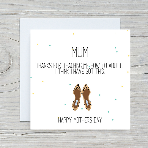 Mother's Day Card - Shoes wrong feet