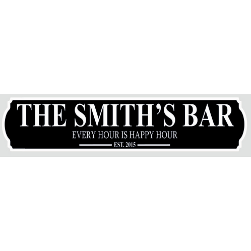 Bar Sign - Personalised