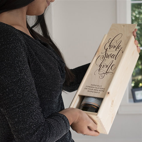 Home Sweet Home Wine Box