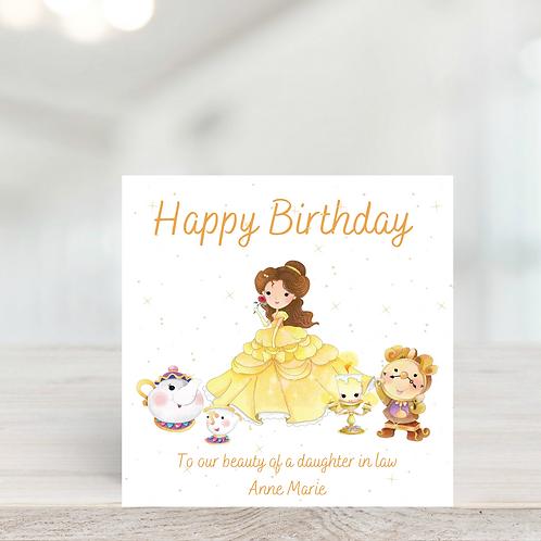 Beauty and the Beast Birthday Card