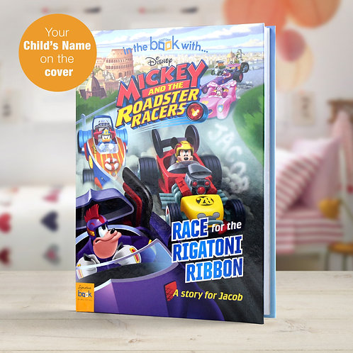 Personalised Disney Jr Mickey and the Roadster Racers StoryBook